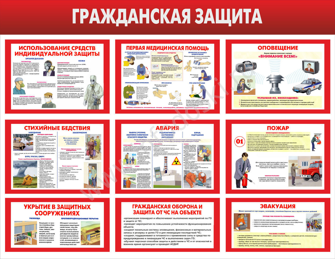 Плакаты на тему гражданская оборона своими руками