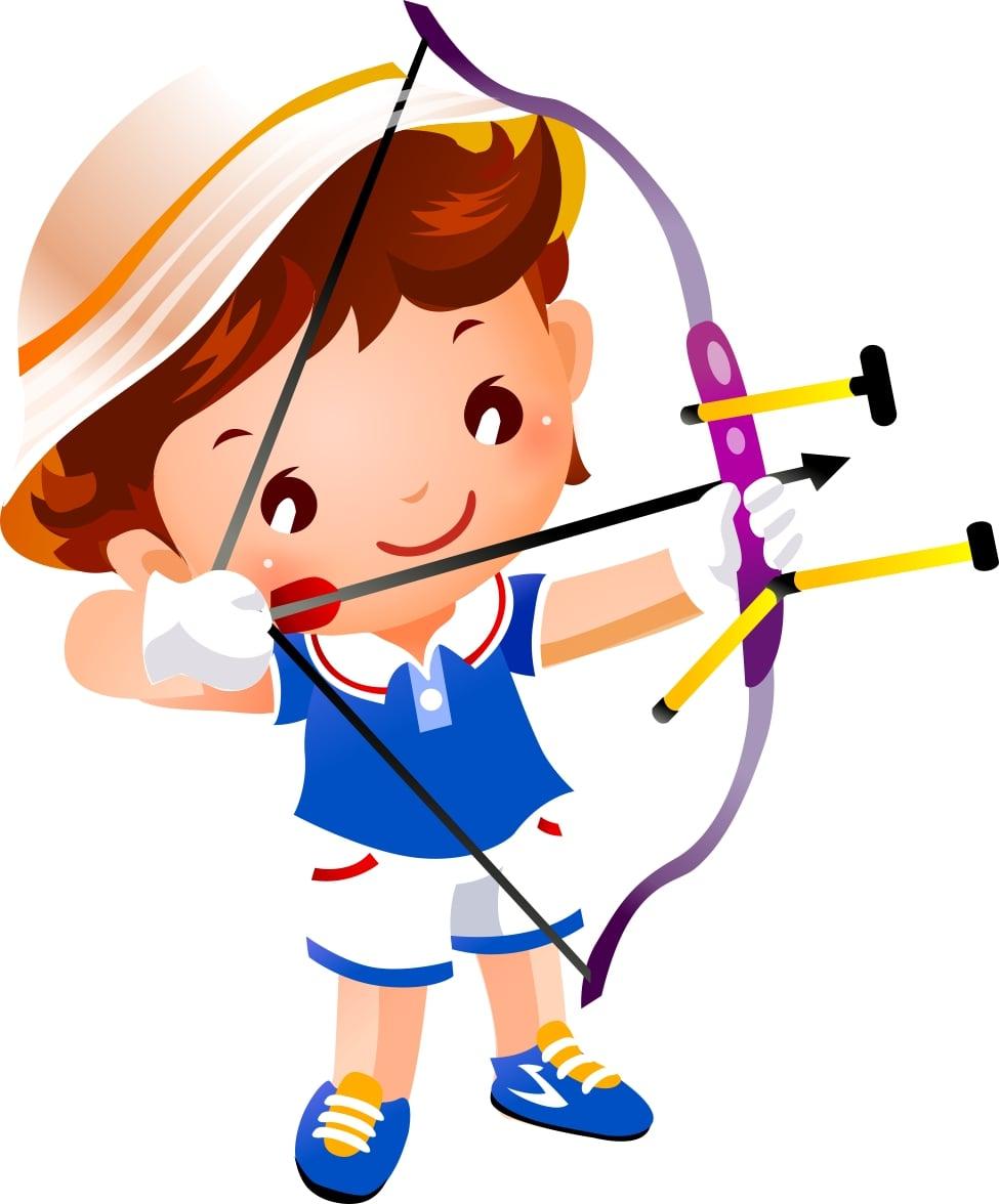 Поздравлением, картинки стрельба из лука для детей