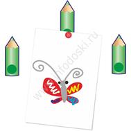 """Магнитный элемент для рисунков """"Карандашик зеленый"""", фото 1"""