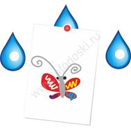"""Магнитный элемент для рисунков """"Голубая капля"""", фото 1"""