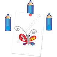 """Магнитный элемент для рисунков """"Карандашик голубой"""", фото 1"""