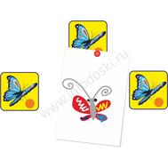 """Магнитный элемент для рисунков """"Порхающая голубая бабочка"""", фото 1"""