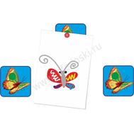 """Магнитный элемент для рисунков """"Оранжевая бабочка"""", фото 1"""