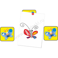 """Магнитный элемент для рисунков """"Голубая бабочка"""", фото 1"""
