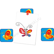"""Магнитный элемент для рисунков """"Красная бабочка"""", фото 1"""