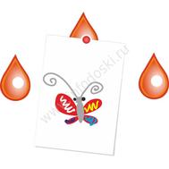 """Магнитный элемент для рисунков """"Красная капля"""", фото 1"""