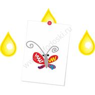 """Магнитный элемент для рисунков """"Желтая капля"""", фото 1"""