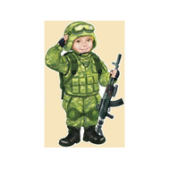 Плакат А3 СОЛДАТ (спецназ) 29.221.00 ВЫРУБКА, фото 1