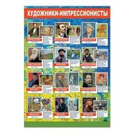 Плакат А2 ХУДОЖНИКИ-ИМПРЕССИОНИСТЫ 35663, фото 1