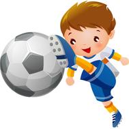 Пластиковая фигура СПОРТ (футбол), 600х590мм, фото 1