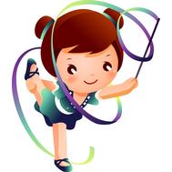 Пластиковая фигура СПОРТ (художественная гимнастика), 495х576мм, фото 1