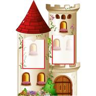 Декоративный стенд БАШНЯ (замок), 1*0,66м, фото 1