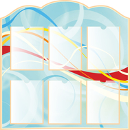 Информационный стенд (голубой фон), 0,9*0,9м, фото 1