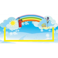 Табличка для детского сада голубая УГОЛОК БЕЗОПАСНОСТИ 300*150, фото 1
