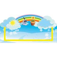 Табличка для детского сада голубая УГОЛОК ПРИРОДЫ 300*150, фото 1