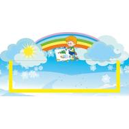 Табличка для детского сада голубая УГОЛОК РИСОВАНИЯ 300*150, фото 1