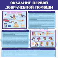 Стенд ОКАЗАНИЕ ПЕРВОЙ ДОВРАЧЕБНОЙ ПОМОЩИ, 1*1м, фото 1