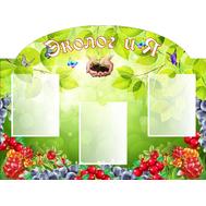 Стенд для детского сада ЭКОЛОГиЯ (ягодки), 1*0,75м, фото 1