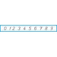 Лента цифр (пропись), 1,3*0,15м, фото 1