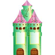 Декоративный стенд БАШНЯ (замок) 0,742*1,365м, фото 1