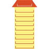 Наборное панно для детского сада ДОМИК, 1,2*0,62м, фото 1