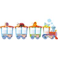 Декоративный стенд для оформления детских учреждений ПАРОВОЗИК (улитка, бабочка, львенок) 2,6*0,9м, фото 1