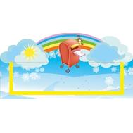Табличка для детского сада голубая ПОЧТОВЫЙ УГОЛОК 300*150, фото 1