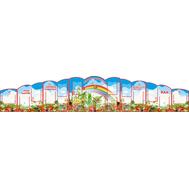 Стенд для детского сада ДЛЯ ВАС, РОДИТЕЛИ (ягоды и радуга) 4,42*0,85м, фото 1