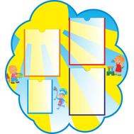 Информационный стенд для детского сада ДЕТКИ (солнышко), 787*856м, фото 1