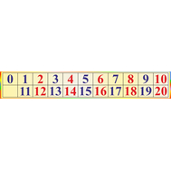 Cтенд для начальной школы ТАБЛИЦА ЧИСЕЛ от 0 до 20, 1,25*0,2м, фото 1
