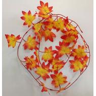 Гирлянда из осенних листьев пестрая, 2,2м, фото 1