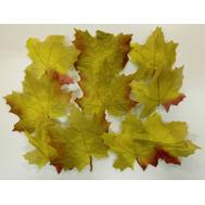 Набор из осенних листьев зеленых, 8*8см, фото 1