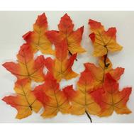 Набор из осенних листьев оранжевых, 8*8см, фото 1