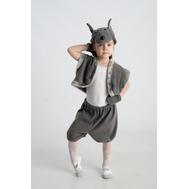 Волк (шапочка + жилет + лапки + штанишки с хвостиком), фото 1
