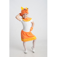 Лисичка (шапочка + воротничок + юбочка с хвостиком), фото 1