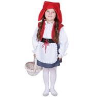 Красная шапочка (юбка с передником на широком поясе с имитацией корсета, белая блузка, жилет, шапочка), фото 1