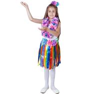 Гавайский костюм (девочка) юбка, лея, головной убор, фото 1