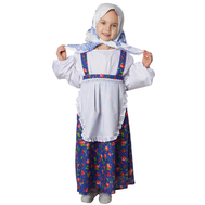 Бабка (сарафан с имитацией блузки и передником, платок на голову), фото 1