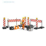 Набор знаков дорожных работ с фигуркой рабочего, фото 1