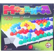 Мозаика круглая, 120 элементов по 20мм, 6 цветов, 2 платы, фото 1