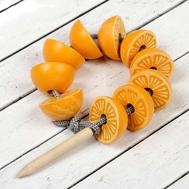 """Шнуровка """"Апельсины"""" 10  элементов с иголкой, фото 1"""