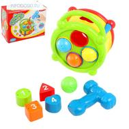 Логическая игрушка 2 в 1 стучалка-сортер «Забавный барабан», фото 1