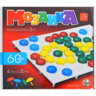 Мозаика круглая, 60 элементов по 20мм, 4 цвета, фото 1