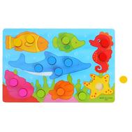 """Рамка - вкладыш """"Подбери цвета. Подводное царство"""", 15 элементов, фото 1"""