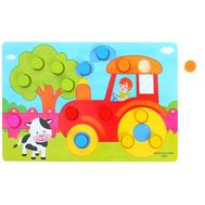"""Рамка - вкладыш """"Подбери цвета. Ферма"""", 15 элементов, фото 1"""