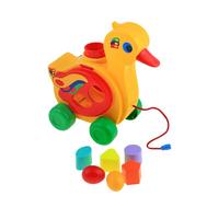 Игрушка-каталка с сортером «Уточка-несушка», фото 1