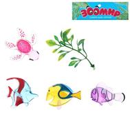 """Набор животных """"Морские животные"""", прозрачные, 4 фигурки с аксессуаром, фото 1"""