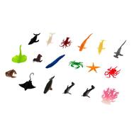 """Набор животных """"Морские жители"""", 17 фигурок с аксессуаром, фото 1"""