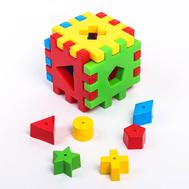 """Игрушка-сортер развивающая """"Волшебный куб"""", 12 элементов, фото 1"""
