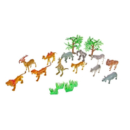 """Набор животных """"Дикая природа"""" с аксессуарами, 12 фигурок, фото 1"""